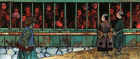 Des prostituées dans la rue (extrait de 'Le chien de Chambara', de Hugues Micol)